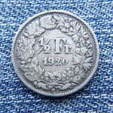 3m -  1/2 Franc 1920 Elvetia / argint, Europa
