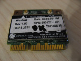 Placa wireless laptop HP ProBook 4430s, Atheros AR5B195, 593127-001, 592775-001