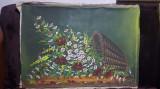 Pictura Cos cu flori - ulei pe panza