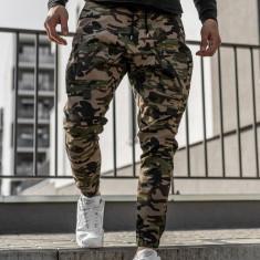 Pantaloni trening bărbați kaki Bolf 0956