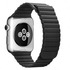 Curea piele pentru Apple Watch 44mm iUni Black Leather Loop
