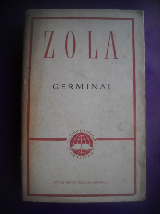 HOPCT  GERMINAL / EMILE ZOLA  - 1965 - 550  PAGINI