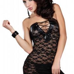 Cumpara ieftin LIV13-1 Desu sexy tip rochita, cu insertii din piele ecologica