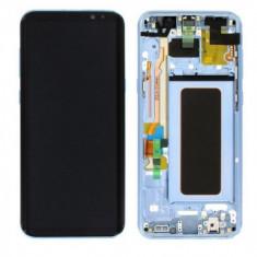 Display lcd cu touchscreen samsung g955 galaxy s8+ silver swap.b