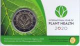 Moneda BELGIA 2 euro comemorativa 2020_plante, coin card, Europa, Cupru-Nichel
