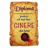 Magnet Diploma pentru Cel mai bun GINERE din lume, lemn, Alexer