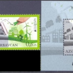 Azerbaigian, Europa verde, serie si colita, 2016, MNH