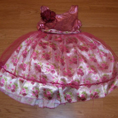 costum carnaval serbare rochie gala printesa floare pentru copii de 4-5-6 ani