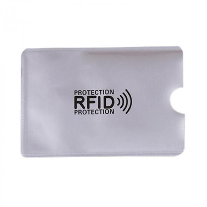 Folie protectie credit card bancar, contactless, culoare argintiu