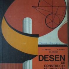 DESEN DE CONSTRUCTII SI INSTALATII. MANUAL PENTRU LICEE INDUSTRIALE - C. TSICURA