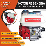Motor pe benzina DDT Profesional 7.5 Cp, 4 timpi, 200 CC, 3.6 L Rezervor
