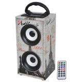 Cumpara ieftin Boxa portabila Freesound Paris, 12 W, Bluetooth, radio FM, USB/AUX