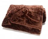 Pătură de pat dublu Valentini Bianco embosată Brown