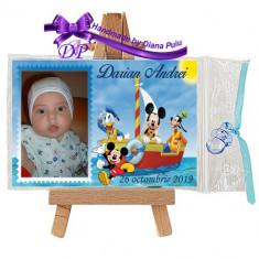 Marturii botez magneti Handmade by Diana Puiu Mickey Mouse MDBM 5