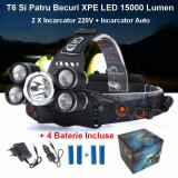 Lanterna Frontala T6 Si Patru Becuri R5 LED 12000 Lumen - 22