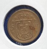 """Moneda 5 lei 1930 Paris - cu Sigla  ,, KN """"  Regenta Regele Mihai I"""