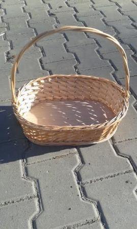 Coş răchită cadou, combinație cu placaj