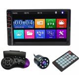 "Cumpara ieftin MP5 Player Techstar® 7033, 2DIN, Camera Marsarier, Ecran HD Touch 7"", Comenzi Volan, Telecomanda, MirrorLink, Bluetooth 4.2"