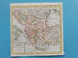 Harta a Turciei Europene, tiparitura originala c.1760