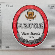 Eticheta Bere - AZUGA - Bere blonda .