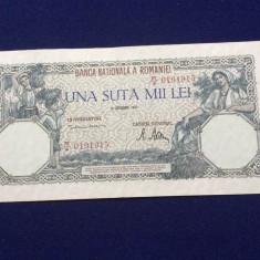 BANCNOTE ROMANIA - 100.000 LEI 20 DECEMVRIE 1946 - SERIA 0191915