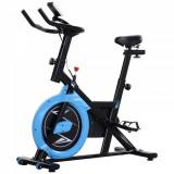 Homcom Bicicleta Fitness Intensitate Reglabila Negru si Albastru Deschis