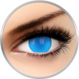 Glow Electric Blue - lentile de contact colorate Crazy albastre anuale - 360 purtari (2 lentile/cutie)