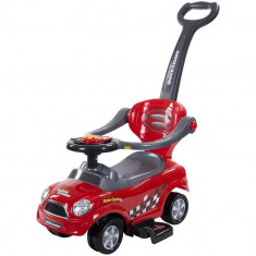 Masinuta fara pedale cu control parental,bare de siguranta si roti 360 - Sun Baby - Rosu