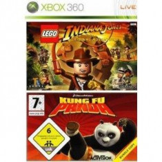 Lego Indiana Jones & Kung Fu Panda Double Pack Game XB 360