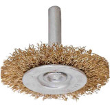 Perie circulara. din sarma. cu tija pentru bormasina 100 mm