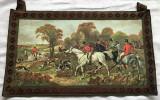 Tablou matase - decorativ / de colectie - tapițerie - motiv vânătoare