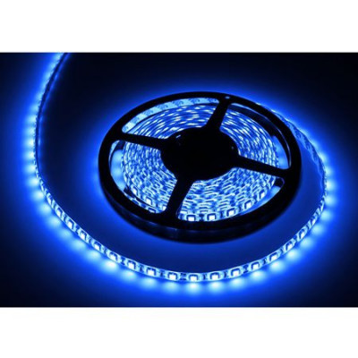 Banda LED 300 diode IP65, 5 m, 1.2 A, 12 V, culoare albastru, waterproof foto