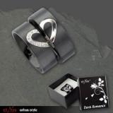 Inel otel inoxidabil pentru indragostiti Dark Romance - HIM