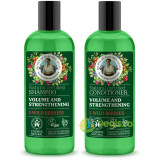 Pachet Sampon si Balsam Natural pentru Volum si Intarirea Firului de Par cu 5 Fructe de Padure 260ml