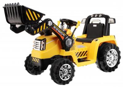 Tractor electric cu telecomanda Malipen cu excavator frontal foto