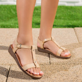 Sandale dama cu talpa ortopedica bej Mahelia