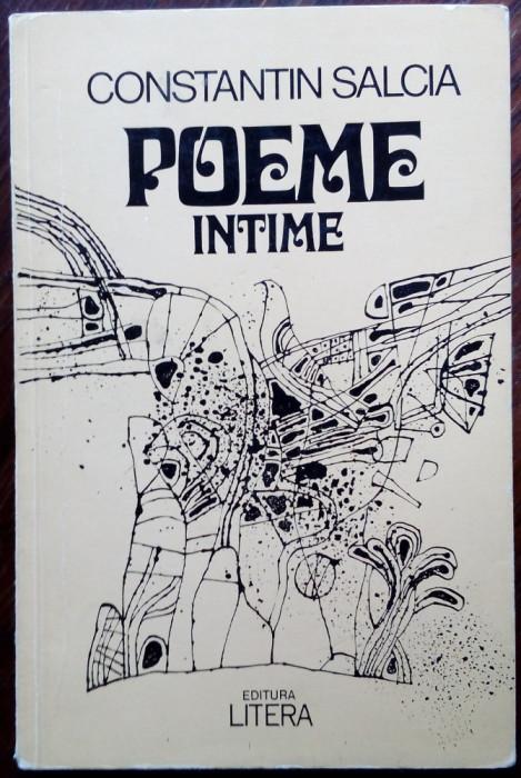 CONSTANTIN SALCIA: POEME INTIME, 1980(desene VIOREL POPESCU)[dedicatie/autograf]