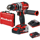 Masina de gaurit si insurubat cu acumulatori, brushless, Einhell Power X-Change TE-CD 18 Li-i BL (2x2,0Ah), 18 V, 60 Nm
