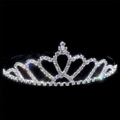 tiara cu cristale si pieptan lungime 10 cm,