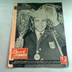 REVISTA SPORT SI TEHNICA NR.12/1968