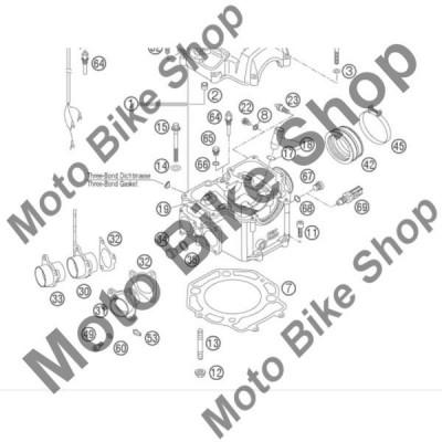 MBS Garnitura galerie evacuare KTM 640 LC4 ADVENTURE 2006 #32, Cod Produs: 58036041000KT foto