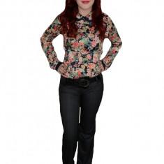 Pantalon deosebit, gri, design geometric modern, fermoar