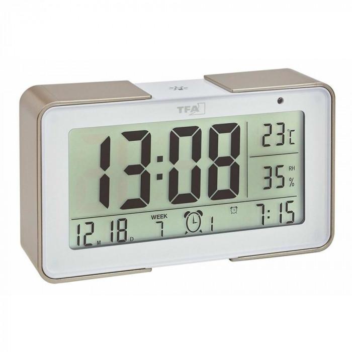 Termometru si higrometru cu senzor de lumina alb TFA 60.2540.53