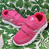 Cumpara ieftin Adidasi roz cu scai pt fetite pantofi sport f usori 30 32 34 cod 0758, Fete