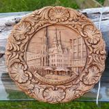 Farfurie vintage sculptura lemn Nurnberg
