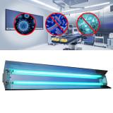 Cumpara ieftin Lampa bactericida UVC orientabila 2x30W, reflector, rotire 140 grade, sterilizare