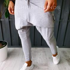 Pantaloni VAGABOND - de trening pentru barbati - slim fit - gri - A6403