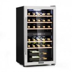 Klarstein Vinamour 29D, răcitor de vin, 2 zone, 80 l, 29 sticle, 5 - 22 °C, tactil