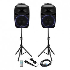 KIT SONORIZARE 2X12 inch/30CM 2X200W 1 ACTIV + 1 PASIV USB/SD/BT Electronic Technology