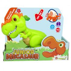 Dinozaur Junior T-Rex cu lumini si sunete - Verde